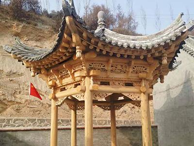 中卫藏式民用建筑模型