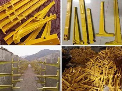 玻璃鋼電纜溝支架電纜溝托架預埋式地面工地電線三腳架放線架