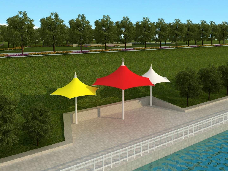 青岛透明式膜结构景观小品供应