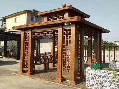上海仿古铝艺凉亭定制