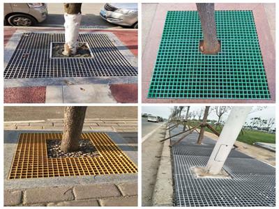 可定制生產玻璃鋼樹篦子市政工程護樹板玻璃鋼格柵板