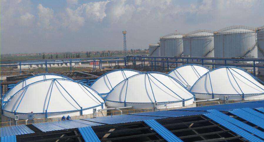 青海污水池膜結構加蓋工程