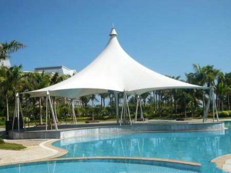 湖北游泳池遮陽膜結構設施