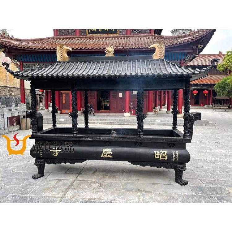 瑞安市香炉铸造厂祠堂香炉-出售浙江省新品方形铜香炉