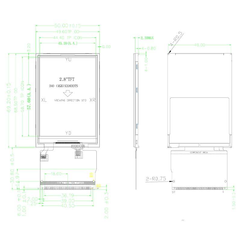 重慶2.8寸TN屏H025售價