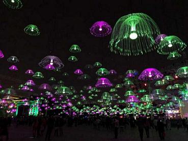 山西led光纤水母灯产生厂家