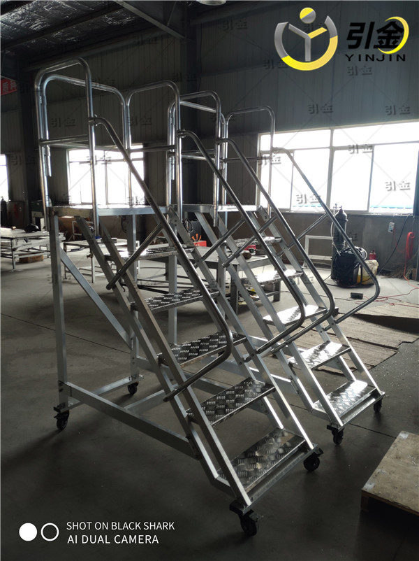 江蘇揚州工業平臺登高梯,工業踏步臺 鋁合金雙面梯子專家