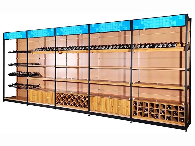 兰州货架|兰州超市货架|甘肃钢木货架|兰州烟酒货架