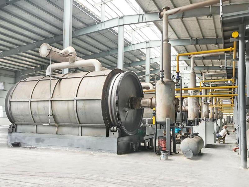 废轮胎炼油设备工艺流程描述