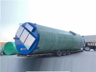 玻璃鋼一體化泵站預制智能全自動地埋式截污泵房雨水污水處理設備
