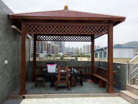 黑龙江花园铝艺凉亭订做