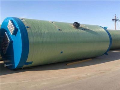 地埋式玻璃鋼一體化泵站玻璃鋼預制筒體雨水提升環保泵站可定制