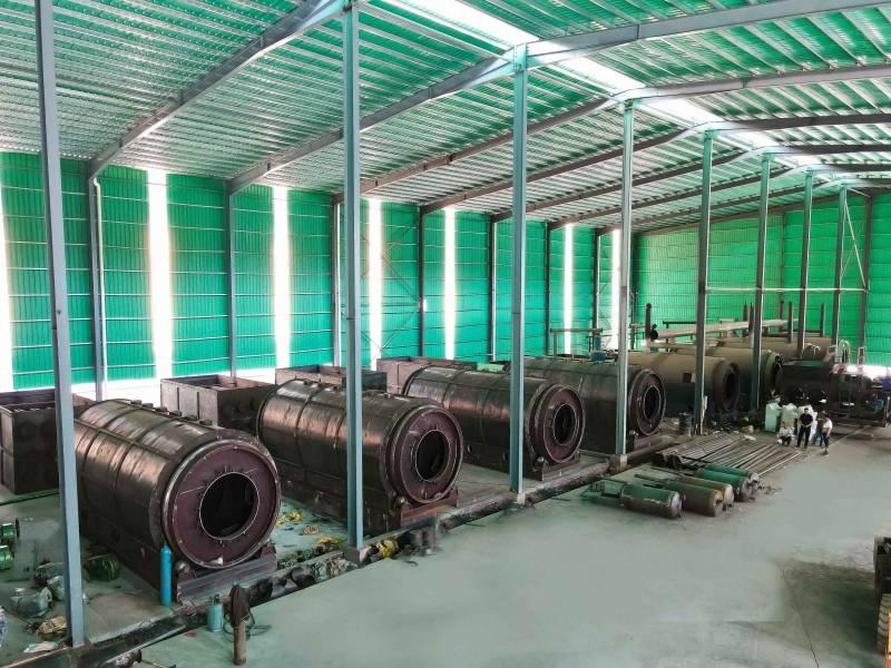 废轮胎废橡胶炼油设备厂家 15吨废轮胎炼油设备的效益分析