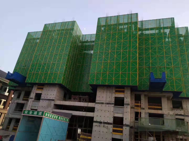 彩喷外立网 建筑爬架网 建筑施工爬架网